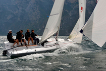 racing keelboat