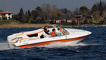out-board runabout