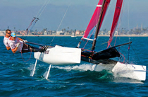 ISAF sailing catamaran