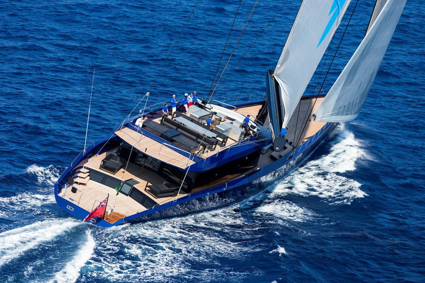 Cruising Sailing Super Yacht Deck Saloon Flybridge