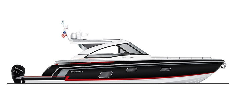 Outboard express cruiser / four-engine / hard-top / bowrider - 430
