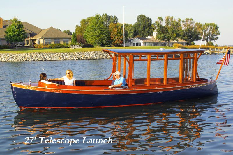 Electric Cabin Cruiser / Open / Wooden / Classic   Telescope Launch