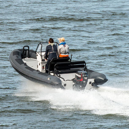 Outboard inflatable boat / center console / with jockey console / 7-person  max  R6 Series Rupert Marine