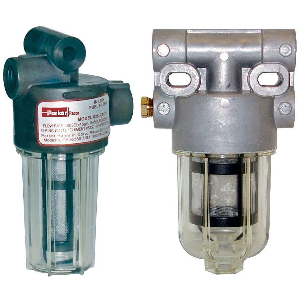 Gasoline Filter For Boats Engine In Line 025 Rac Series Parker Marine Fuel