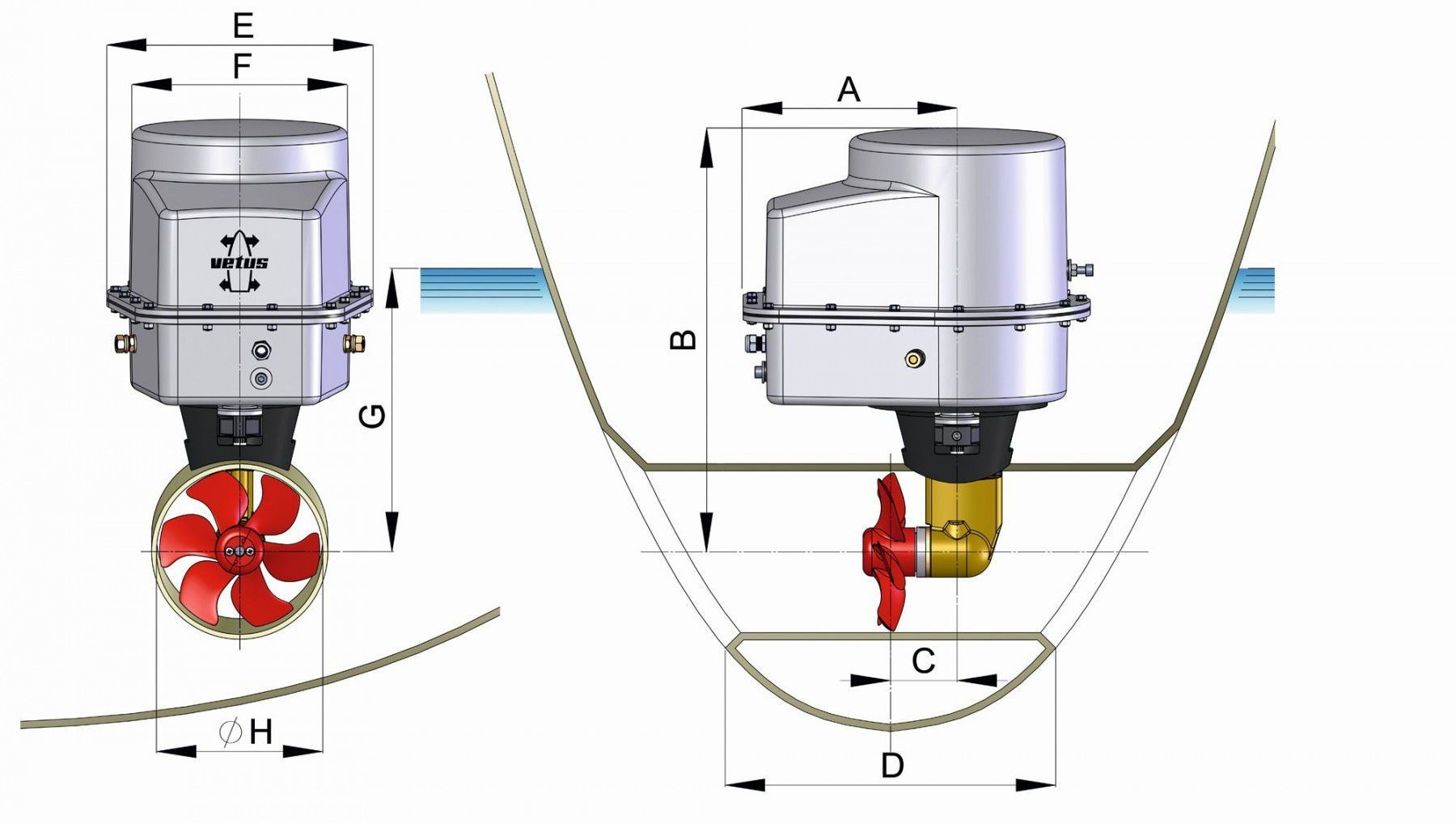 ... bow thruster / for boats / electric