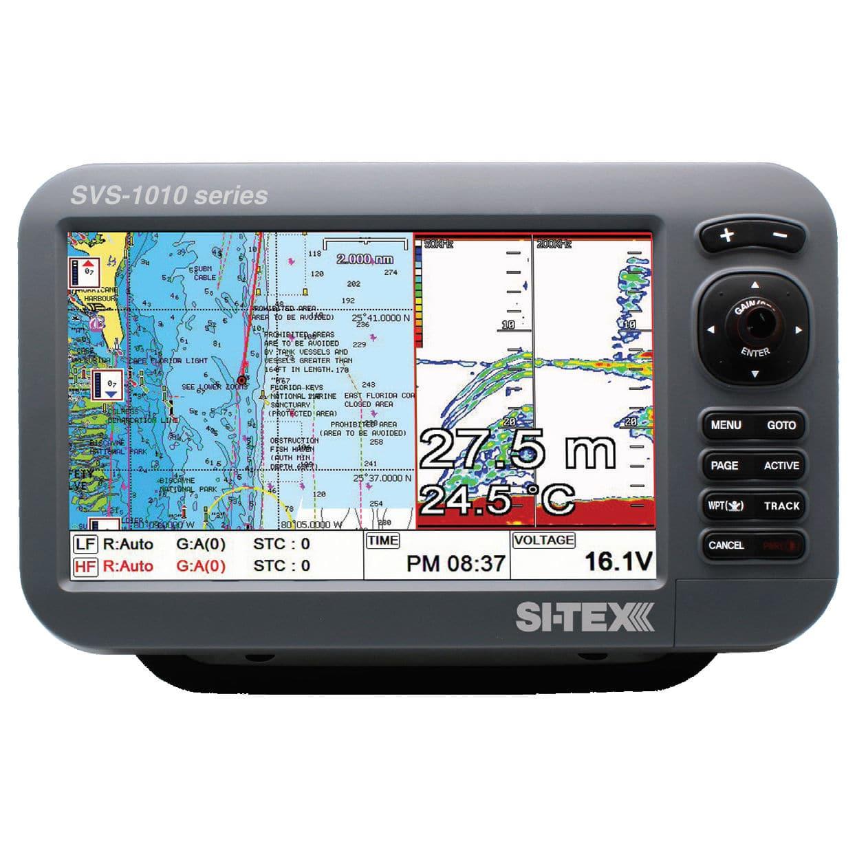 chart plotter / gps / fishfinder / for boats - svs-1010c - si-tex, Fish Finder