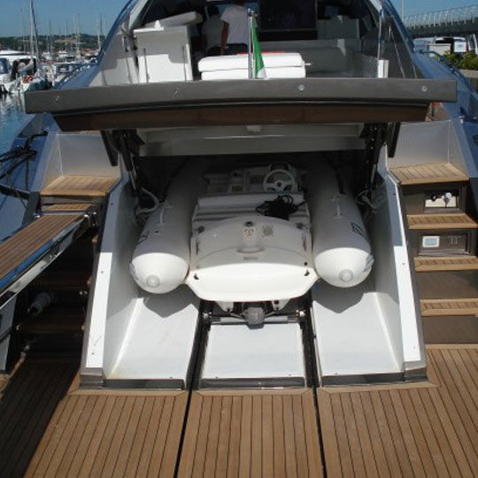 Yacht door / hydraulic / garage / stainless steel