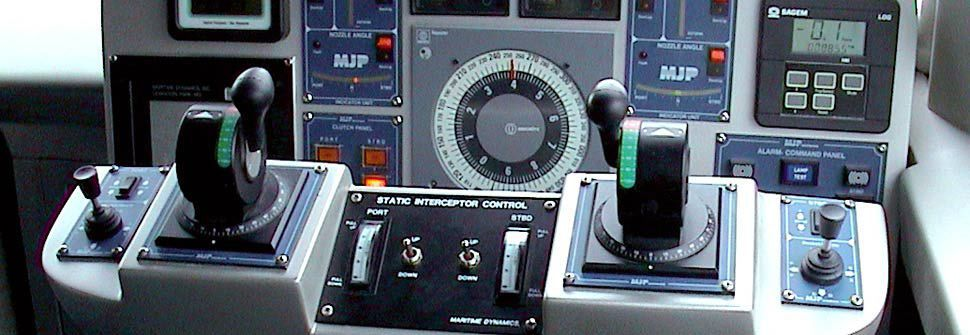 Boat control panel / engine / with control lever / with joystick ...