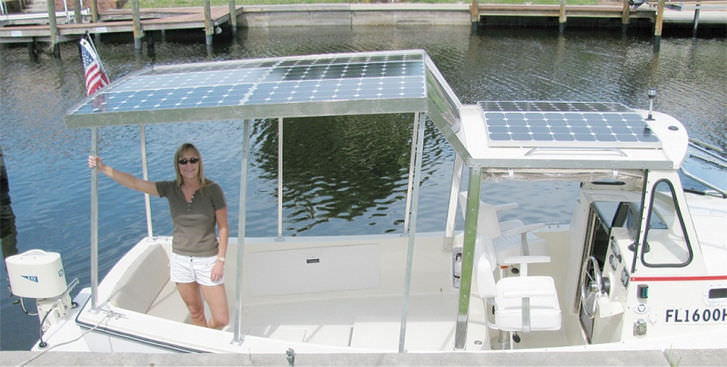 ... Outboard Cabin Cruiser / Solar Electric Powered / Open / Downeast