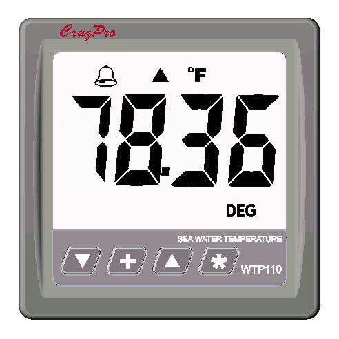 Boat indicator / water temperature / digital / NMEA 2000® - WTP110