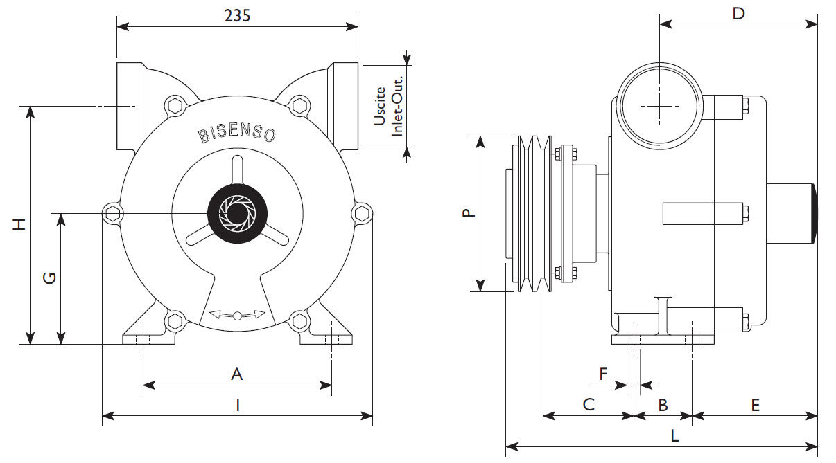 Boat Pump Transfer Water Rotary Vane Special Fm Liverani Diagram