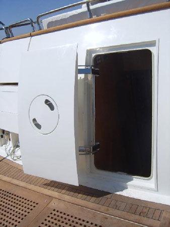 Boat door / for yachts / pantograph / weathertight - 63PP & Boat door / for yachts / pantograph / weathertight - 63PP - Pin-craft pezcame.com