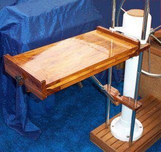Foldable Cockpit Table / Teak Hingeless Leaf TeakFlex ...