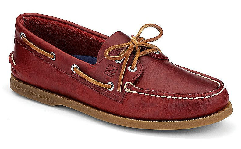 Deck shoes / men's - AUTHENTIC ORIGINAL CYCLONE LEATHER 2-EYE ...