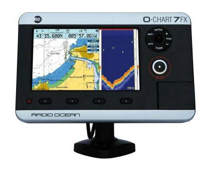 gps / chart plotter / fishfinder / for boats - o-chart7fx - radio, Fish Finder