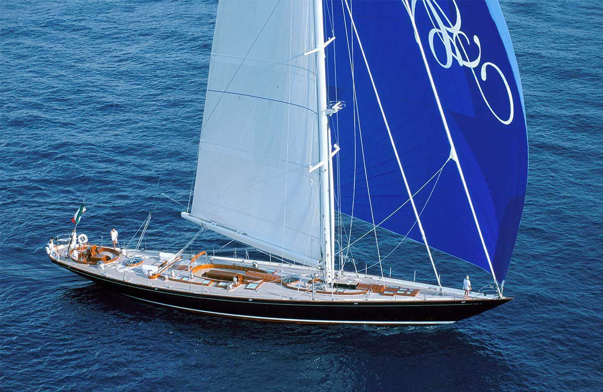 Cruising Sailing Super Yacht Classic Open Transom Sloop