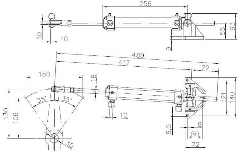 Boat Cylinder Hydraulic Steering System