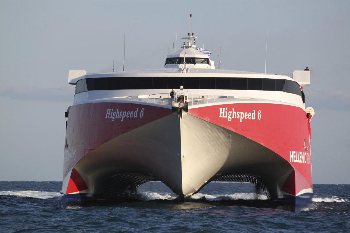 High Speed Car Ferry Catamaran Volcan De Teno Incat