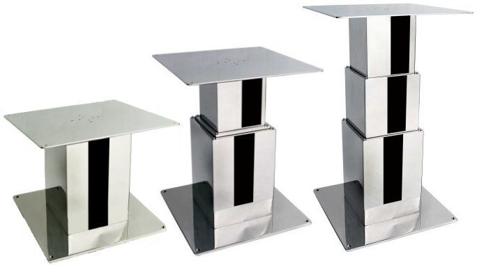 Electric Boat Table Pedestal / Adjustable / Stainless Steel 20.18898A Atep  Italia