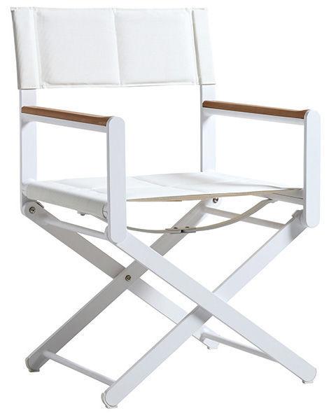 Folding Directoru0027s Chair / Aluminum   OSKAR | White/White