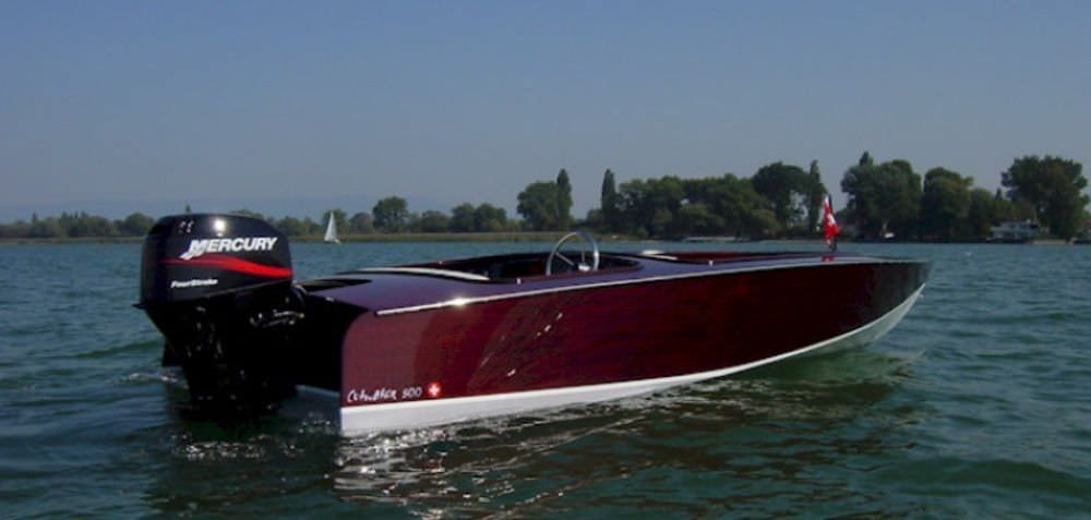 Outboard Runabout Dual Console Wooden Classic
