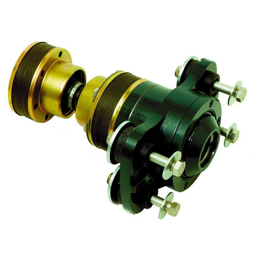 Flexible mechanical coupling / for boats / for shafts / anti