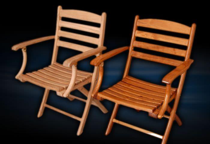 Standard Boat Chair / Folding / Teak ...