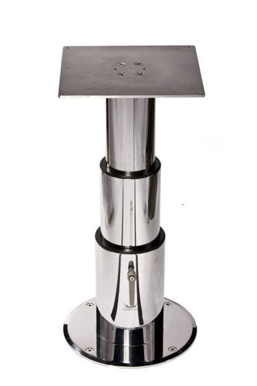 Adjustable Boat Table Pedestal / Stainless Steel   THREE STAGE