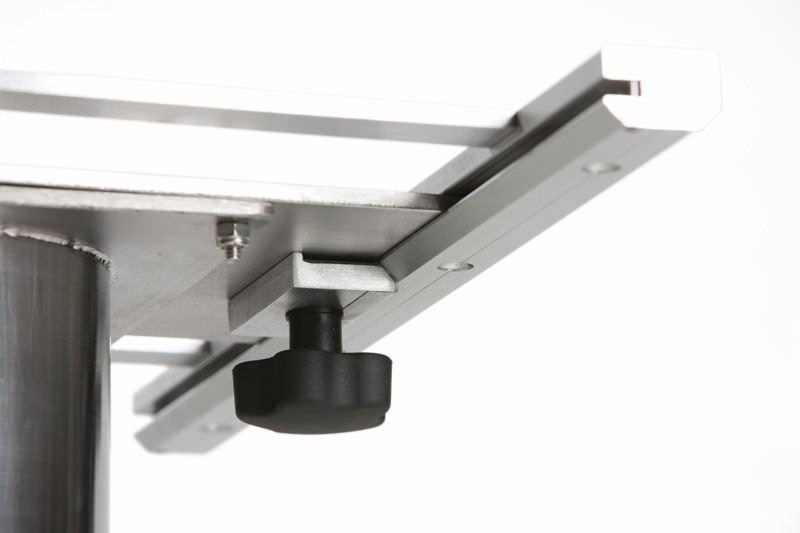 Adjustable Boat Table Pedestal / Stainless Steel TABLETOP SLIDE Crown Ltd  ...