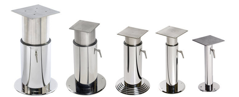 Good Adjustable Boat Table Pedestal / Stainless Steel   TWO STAGE
