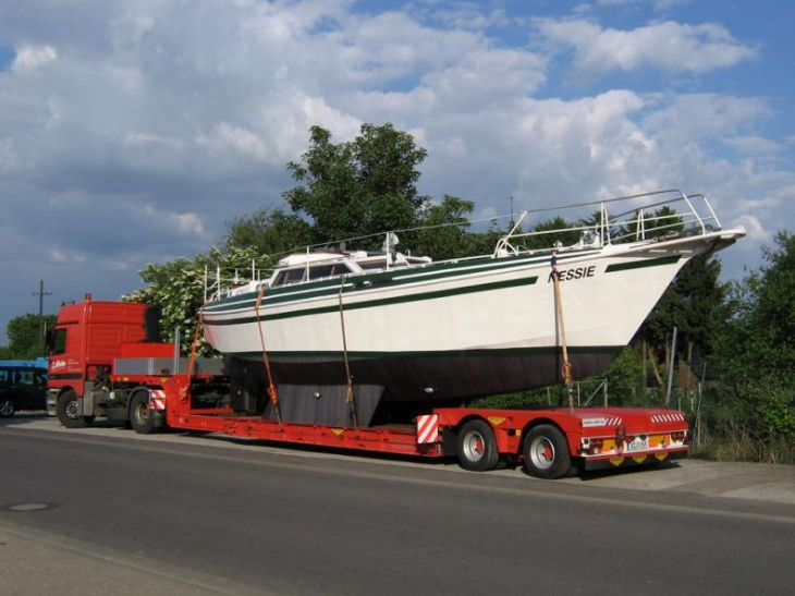 Heavy haul trailer / for boats / low-profile - Broshuis