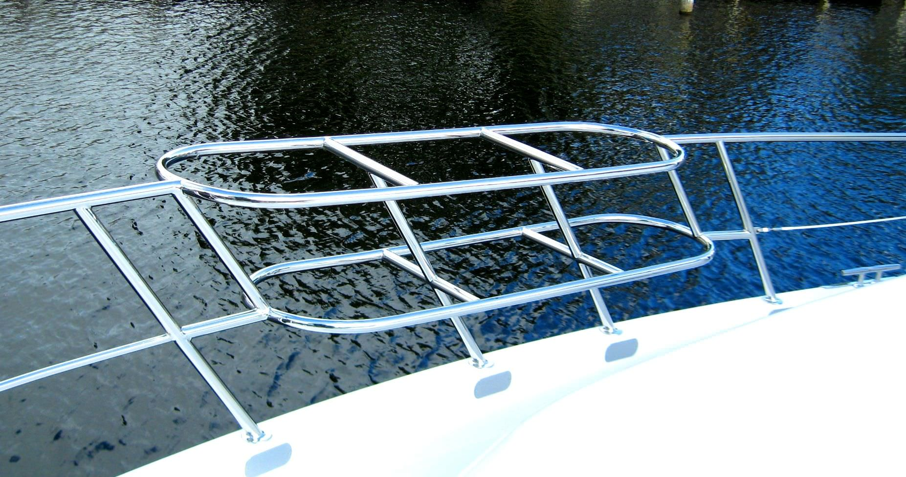 Boat grab rail / stainless steel - UMT MARINE LLC