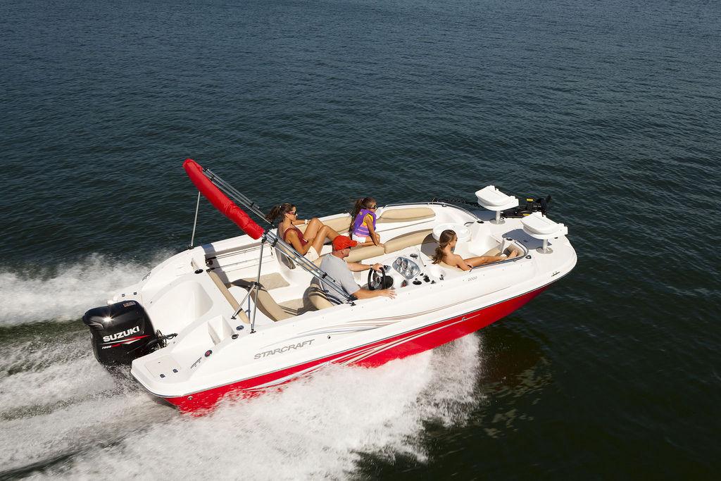 Image result for starcraft 2000 limited deck boat