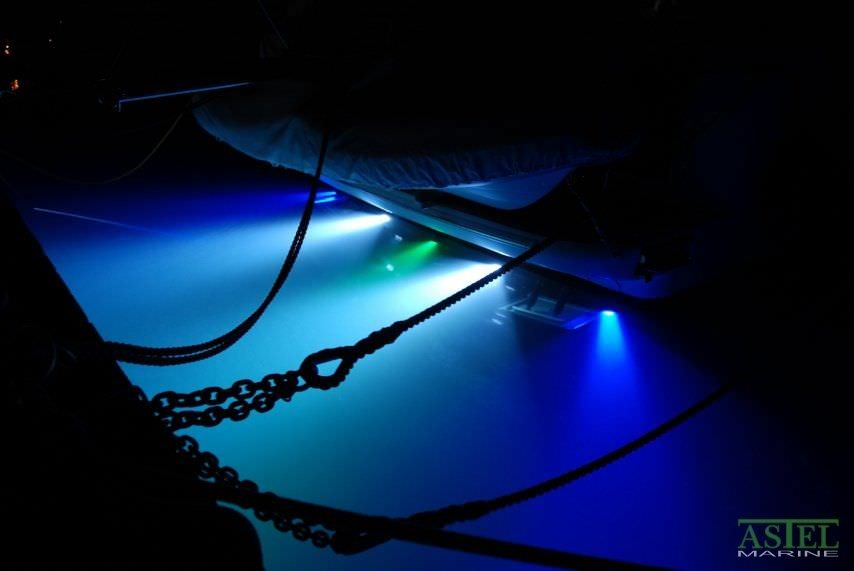 underwater boat light / led / surface-mount / bronze - convex, Reel Combo