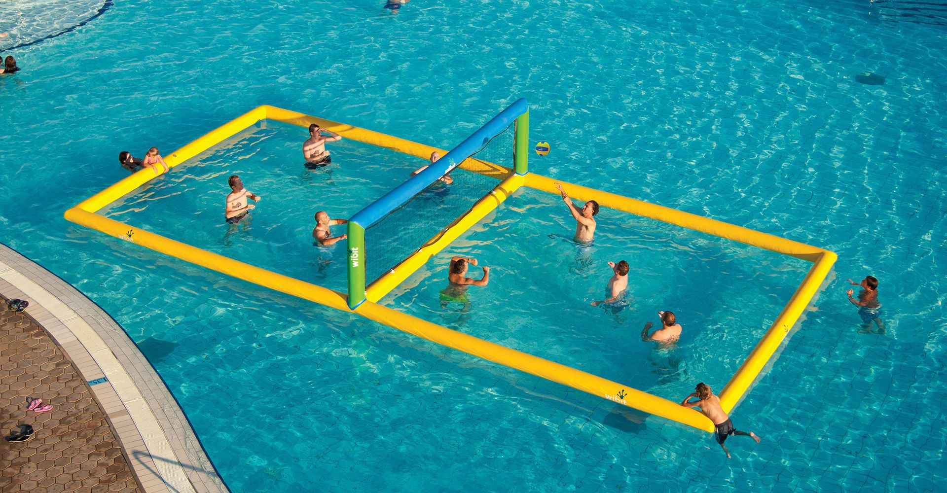 Volleyball court water toy floating Volley Wibit Sports
