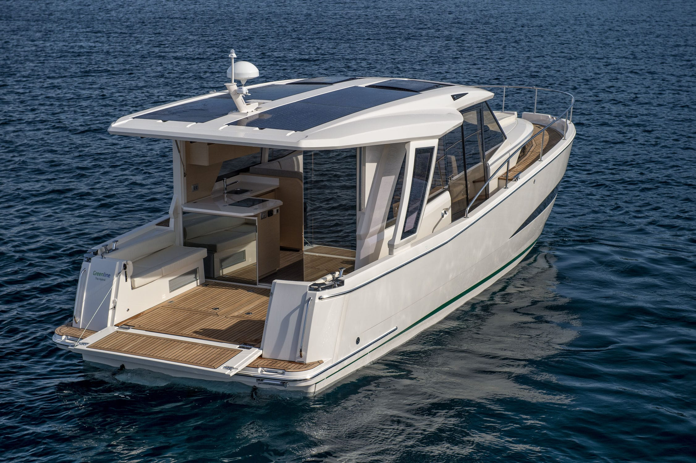 Exceptional ... Diesel Electric Hybrid With Solar Energy Express Cruiser / 2 Cabin ...