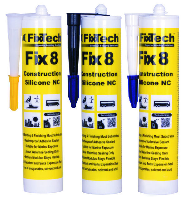 Silicone adhesive sealant / multi-use - Fix8 - Fixtech Marine Solutions