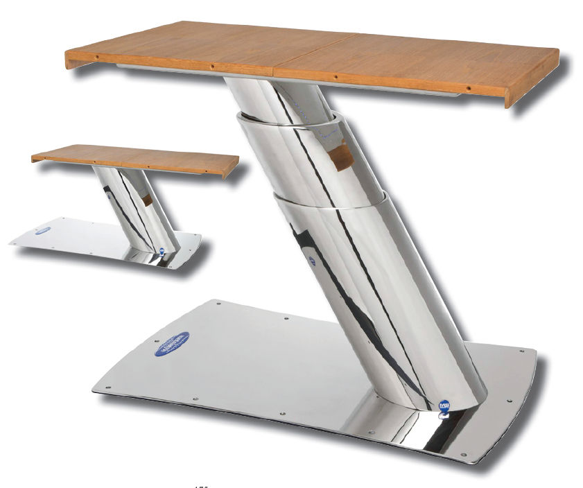 Telescopic Boat Table Pedestal / Hydraulic / Stainless Steel   WINDWARD