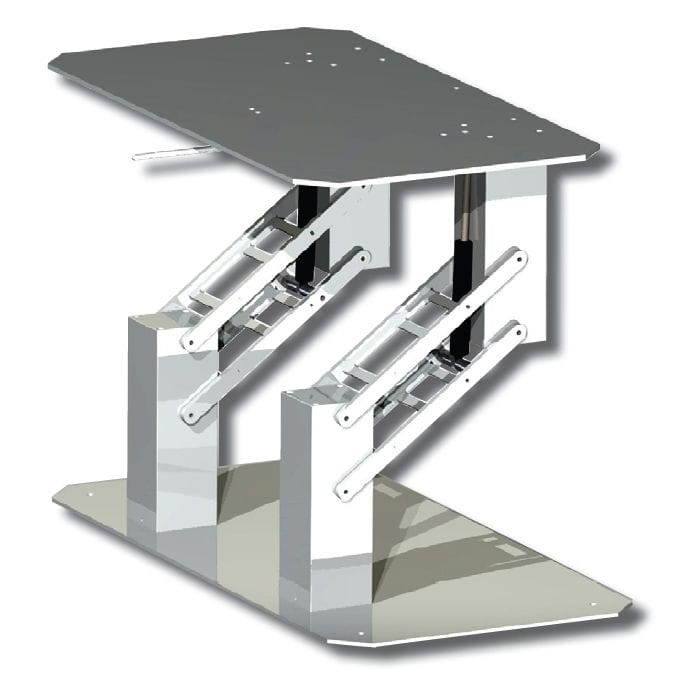 Great Telescopic Boat Table Pedestal / Adjustable / Aluminum   DOUBLE QUADRATICA