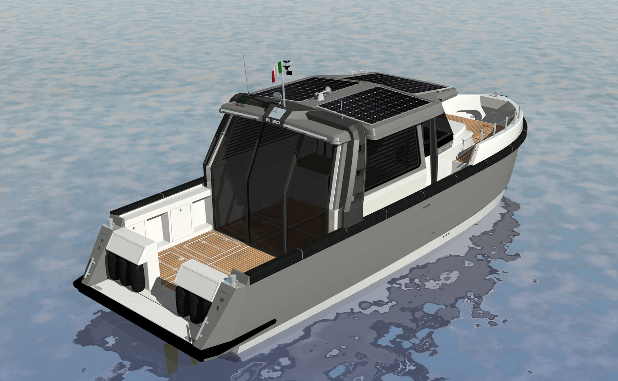 Attractive Solar Electric Powered Express Cruiser / Hybrid / Downeast / 12 Person Max.  ...