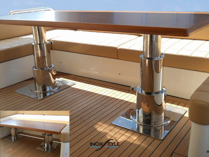 ... Telescopic Boat Table Pedestal / Stainless Steel Low Profile Telescopic  Mounting Inoxstyle