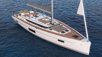 Cruising sailing yacht / open transom / deck saloon / 3-cabin