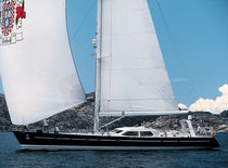 Cruising-racing sailing yacht / open transom / custom