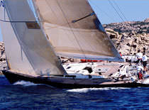 Cruising-racing sailing yacht / open transom / carbon / custom