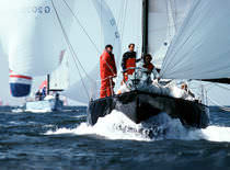 Cruising-racing sailboat / open transom / custom