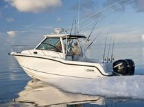 Outboard walkaround / twin-engine / sport-fishing