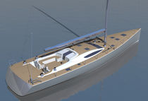 Cruising sailing yacht / deck saloon / lifting keel