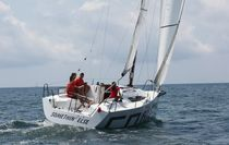Monohull / cruising-racing / open transom