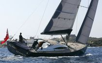 Cruising-racing sailing yacht / deck saloon / 3-cabin / custom