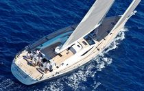 Cruising sailing super-yacht / deck saloon / 6-cabin
